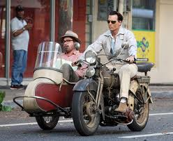Johnny Depp and Michael Rispoli in 'The Rum Diary'.