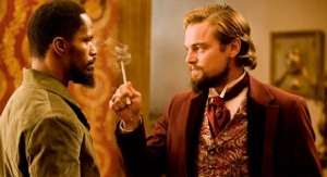Jamie Foxx and Leonardo DiCaprio in Quentin Tarantino's ode to westploitation, 'Django Unchained'.