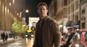 Tom Cruise stars as steely eyed bad-ass 'Jack Reacher'.