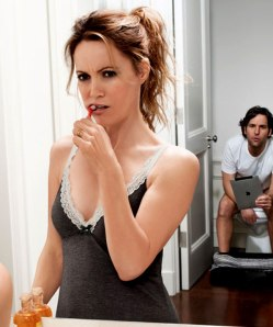 Leslie Mann and Paul Rudd hit middle age with a   resounding thud in 'This is 40'.