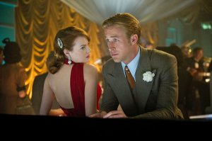 Emma Stone and Ryan Gosling in 'Gangster Squad'.