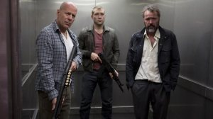 Bruce Willis, Jai Courtney, and Sebastian Kochare trapped in a dead franchise.