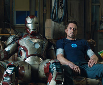 Robert Downey Jr. returns as the Man in the Can in 'Iron Man 3'.
