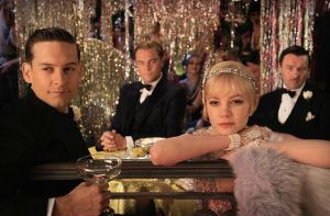From left to right: Tobey Maguire, Leonardo DiCaprio, Carey Mulligan, and Joel Edgerton star in Baz Luhrmann's adaptation of 'The Great Gatsby'.