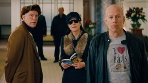 (from L to R) John Malkovich, Mary-Louise Parker, and Bruce Willis return for more senior spy antics in 'Red 2'.
